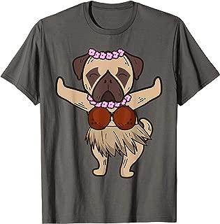 Pug Hawaiian Hula Dance Shirt | Cool Aloha Animal Funny Gift