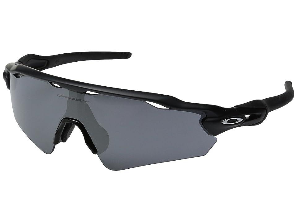 Oakley Radar EV Asian (Matte Black W/Black Iridium) Sport Sunglasses