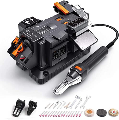 high quality Multifunctional Bench Grinder, 200W/1.67A Sharpener With Flexible Shaft, 6 Variable Speeds, Electric Grinding popular Tool For Drill Bits, Knives, popular Scissors, Chisels And Axes, Rotary Tool, DIY MBG01A online