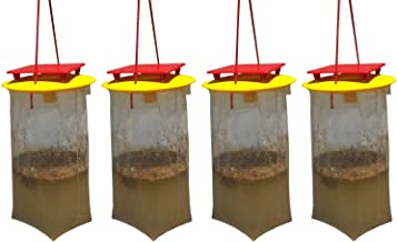 REDTOP Flycatchers Compact Size (2) Twin Value Pack (4 Traps Included) - 100% Non-Toxic Disposable Outdoor Fly Trap - Designed to Attract Egg-Laying Females