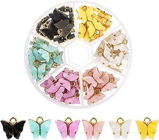 Souarts Fjäril hänge hantverk berlock smycken hänge örhängen armband halsband gör-det-själv halsband armband örhängen gör-...