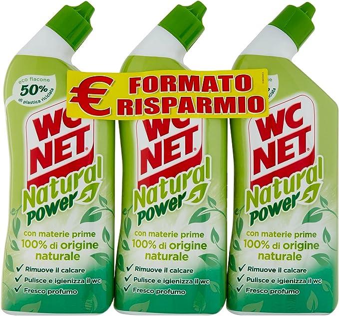 1224 opinioni per Wc Net, Natural Power Gel, Anticalcare e Igienizzante per Sanitari e Superfici,
