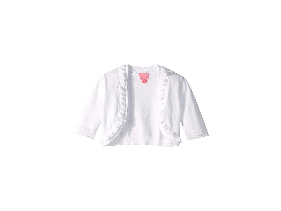 6d7683256e0 Lilly Pulitzer Kids Alexandra Cardigan (Toddler Little Kids Big Kids) (Resort  White) Girl s Sweater