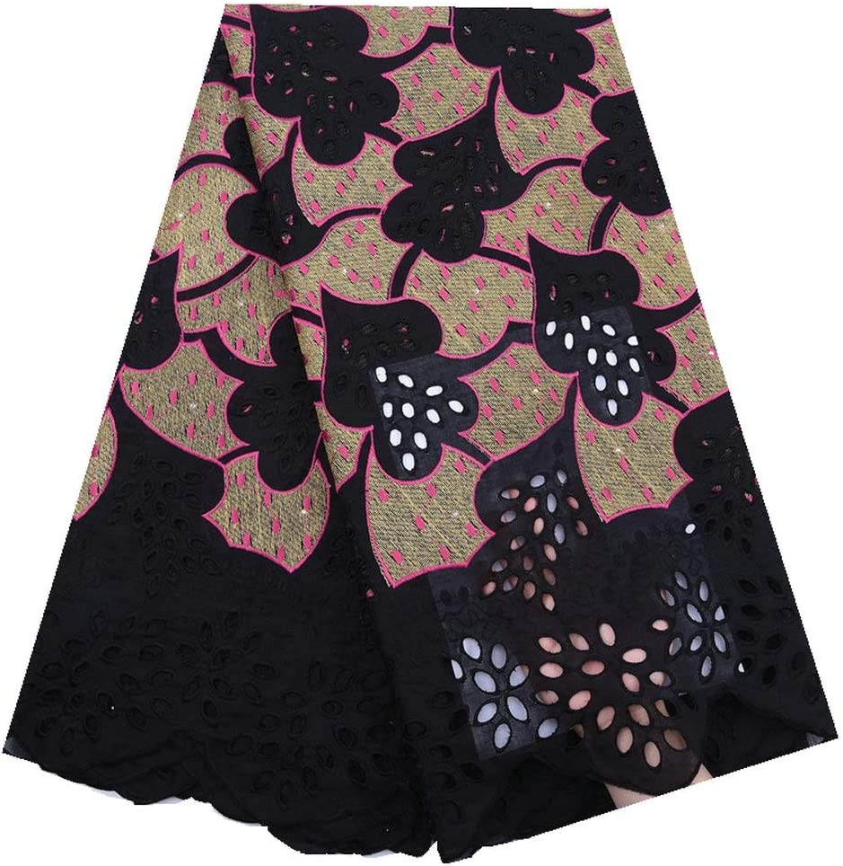 ZHANGOOQI African Arlington Mall Cotton Lace Swiss Credence Switzerland Ni in Voile