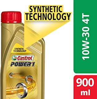 Castrol POWER1 4T 10W-30 API SL Synthetic Engine Oil for Bikes (900ml) (3383334)