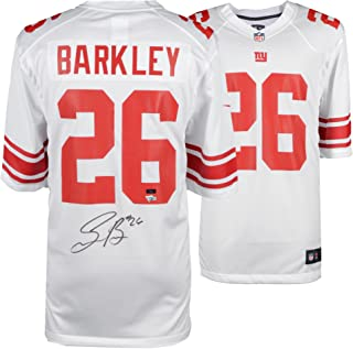 Saquon Barkley New York Giants Autographed Nike White Game Jersey - Panini Authentic - Fanatics Authentic Certified