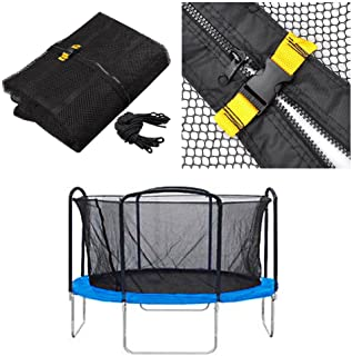 oldzon Trampoline Net 12' Enclosure Netting Fits All Brand 4 Arch/8 Pole Replacement With Ebook