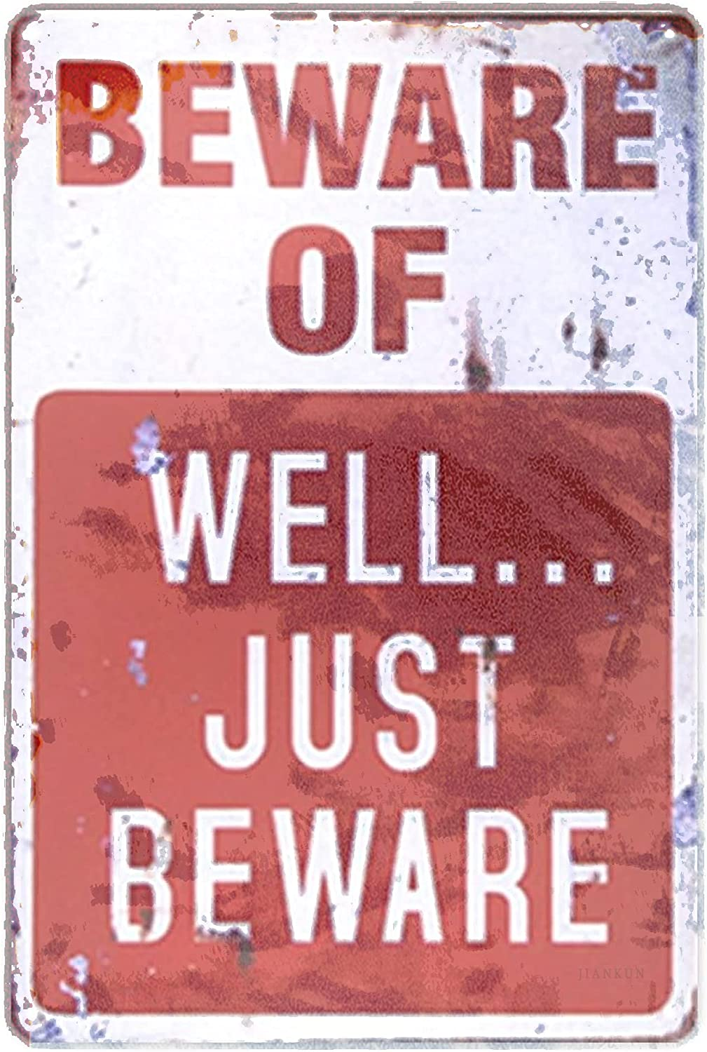 J.DXHYA Man Cave Decor 2 Pieces New arrival Well Max 48% OFF Beware of Metal Just