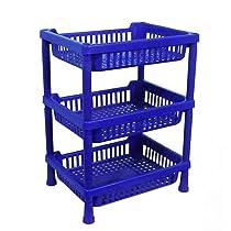 DeoDap Multi-Purpose Plastic Storage Basket For Home Kitchen Office