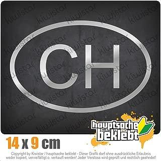 Akachafactory Autocollant Sticker Oval Voiture Moto CH Dimensions Homologue Suisse Switzerland