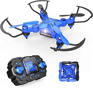 DROCON Mini RC Drone for Kids, Portable Pocket Quadcopter with Altitude Hold Mode, One