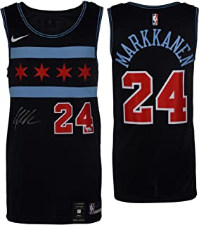 25c25e92c16 Lauri Markkanen Chicago Bulls Autographed Nike City Edition Swingman Jersey  - Fanatics Authentic Certified