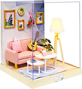 Flever Dollhouse Miniature DIY House Kit Creative Room with Furniture for Romantic Artwork Gift (Afternoon Tea Time)