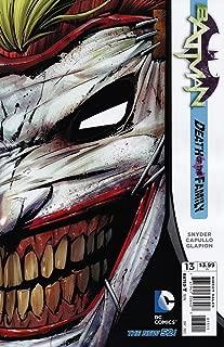 Batman #13 Die-Cut Mask Cover Return of the Joker Death Of The Family Tie-In