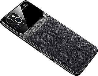 penobon جراب هاتف محمول بنمط الجفن للأعمال التجارية بلون بسيط ومضاد للسقوط غطاء واقي للهاتف المحمول لهاتف iآيفون 12 (Black)