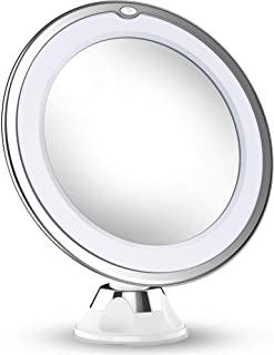 Updated 2020 Version 10X Magnifying Makeup Mirror With Lights, LED Lighted Portable Hand..