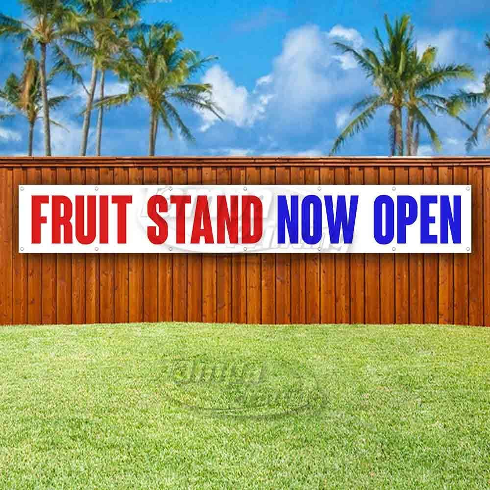 Fruit Stand Now Open Extra Large 13 Oz Heavy Duty Vinyl Banner Sign with Metal Grommets Flag