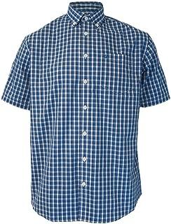 Classic Men's Birket Short Sleeve Cobalt Blue Mod Button Down Shirt