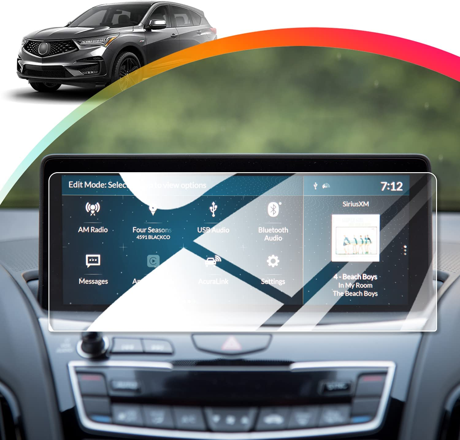 Free shipping anywhere in the nation Aillestuo Screen Protector Compatible 2020-2021Acura with Max 41% OFF RDX A