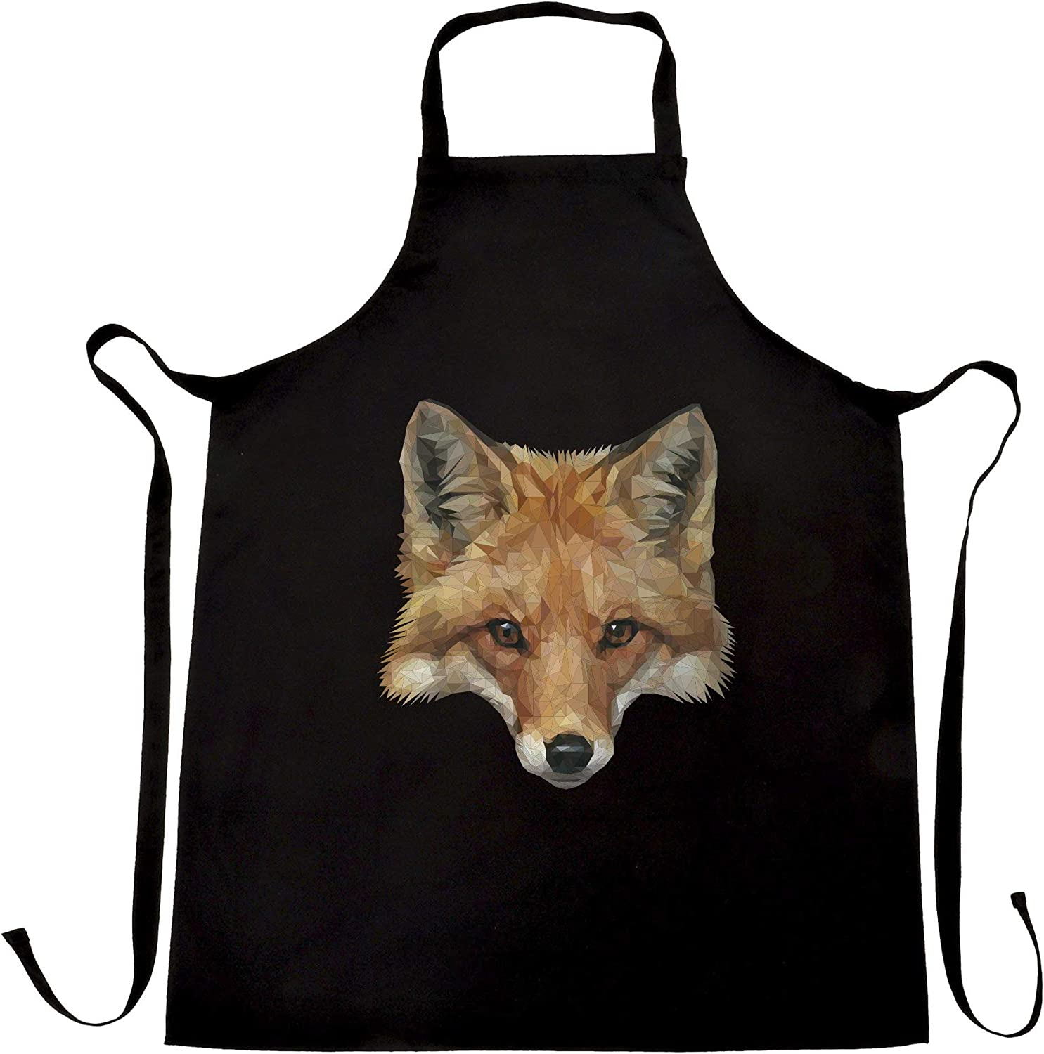 Details about  /Animal Art Chef/'s Apron Low Poly Fox Graphic Wildlife Predator City Sly Cute