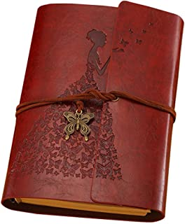 Vintage Retro PU Leather Cover Refillable Notebook Planner Agenda Diary Sketchbook Journal (Brown)