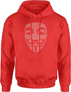 Expression Tees V for Vendetta Anonymous MaskUnisex Adult Hoodie