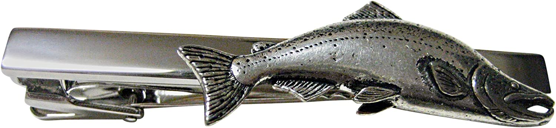 Sockeye Salmon Fish Square Tie Clip