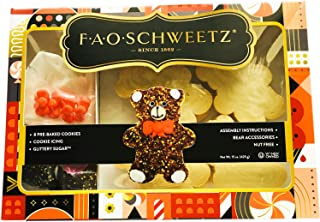 FAO Schweetz Bear Designer Cookie Kit! Includes 8 Bear Pre-Baked Cookies, Cookie Icing, Glittery Sugar, Bear Accessories and Instruction! Glittery Fun And Easy To Make Sparkling Unicorn Cookies!