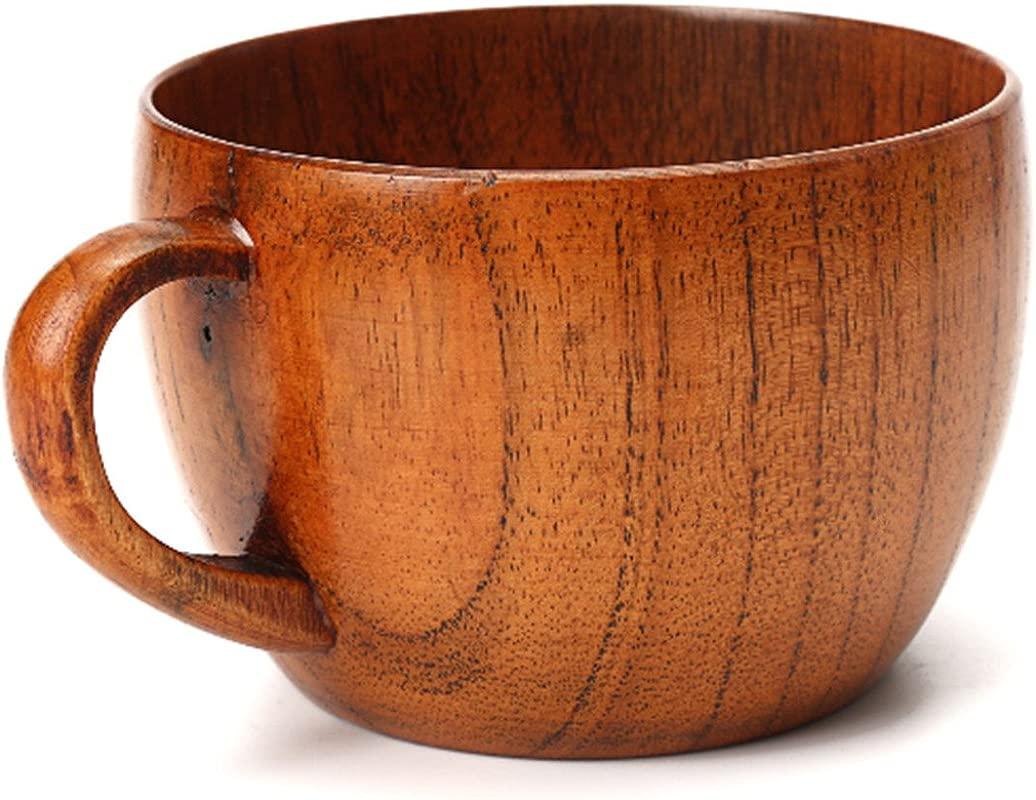 Emoyi Wood Coffee Mug Wooden Mug Tea Cup 100ml Set Of 2