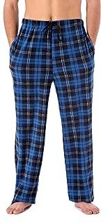 Harvey James Mens Check Fleece Lounge Pants/Pyjamas Bottoms