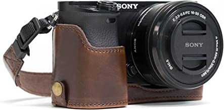 MegaGear Ever Ready Leather Camera Half Case Compatible with Sony Alpha A5100, A5000