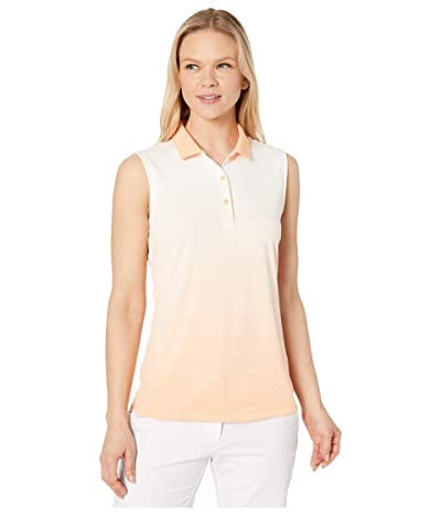 PUMA Golf Ombre Sleeveless Polo (Cantaloupe) Women