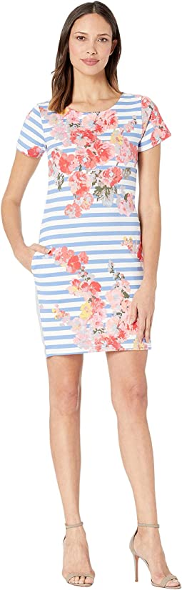 Blue Stripe Floral