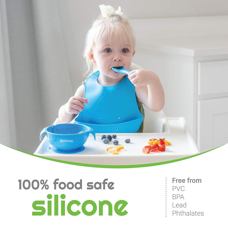Silicone Bib for Toddler Babalou Baby Bibs Blue