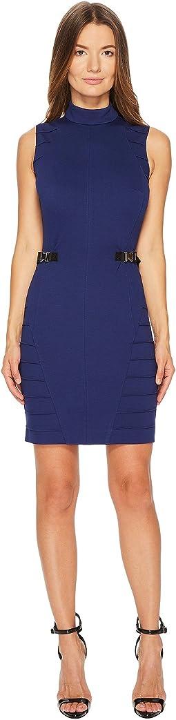 Versace Jeans - Stretch Mock Neck Buckle Dress