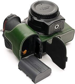 Handarbeit aus echtem echtem Leder halb Kamera Tasche Abdeckung für Nikon Z7 II Z6 II Z5 grüne Farbe