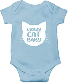 CBTwear Crazy Cat Baby - Funny Pregnancy Gifts for Cat Lovers - Cute Infant One-Piece Baby Bodysuit
