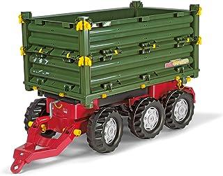 Rolly Toys 125012 - rollyMulti Trailer für Trettraktoren für Kinder von 3 - 10 Jahre, Dreiseitenkipper