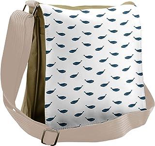 INTERESTPRINT Goldfish on Gray Lightweight Carry-on Travel Duffel Bag