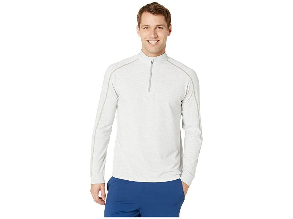 tasc Performance Carrollton 1/4 Zip (Light Heather Gray/Meadow) Men