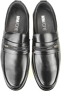 [エムエムワン] ビジネスシューズ メンズ スリッポン ローファー Uチップ モカシン 軽量 紳士靴 春 靴 【MPT161-3-CPZ】 黒 ブラック
