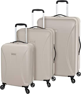 Regent Square Travel - Luggage Set Hard Shell With Spinner Goodyear Wheels - Set of 3 Pieces - Hard Case - Champagne