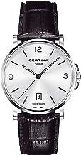 Certina DS Caimano - Reloj (Reloj de Pulsera, Masculino, Acero, Plata, Cuero, Negro)