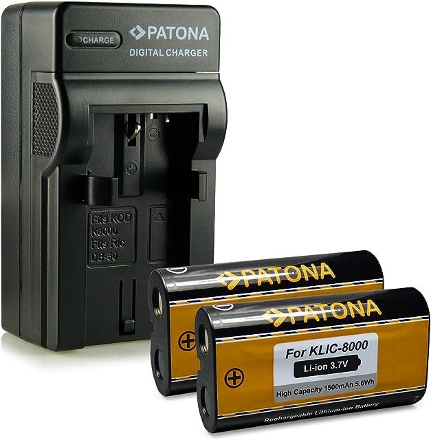 M&L Mobiles® | Novedad - 4in1 Cargador + 2x Batería como Klic-8000 Klic8000 con Infochip · 100% compatible con Klic-8000 Kodak EasyShare Z612 | Z712is | Z812is | Z8612is | Z1012 | Z1012is | Z1015is | Z1085is | Z1485is | Zx1 - DB-50 RICOH Caplio R1 | R1S | R2 | RZ1 | R-1