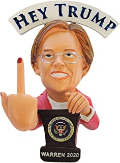 Elizabeth Warren Doll - This Bobblehead Trump Has A Bobbling Middle Finger Instead of Head | Hey Trump Hey Republicans | Warren 2020 Election Gift Toy Statue