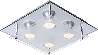 Lucide Ready-LED - Flush Ceiling Light - LED - GU10 - 4x3W 3000K - Chrome