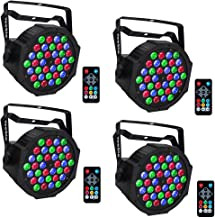 Par Lights for Stage Lighting, YeeSite 36LEDs RGB Stage Wash Lights Sound Activated by Remote and DMX Control Up Lights for Church Wedding Stage Lighting DJ Party - 4 Pack