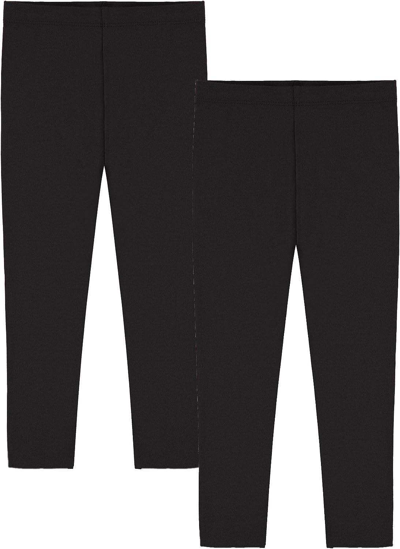 Popular Girl's Cotton Capri Crop Leggings - 2 Pack