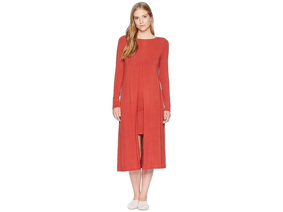 BCBGMAXAZRIA Ayana Layered Midi Dress (Tandori Spice) Women