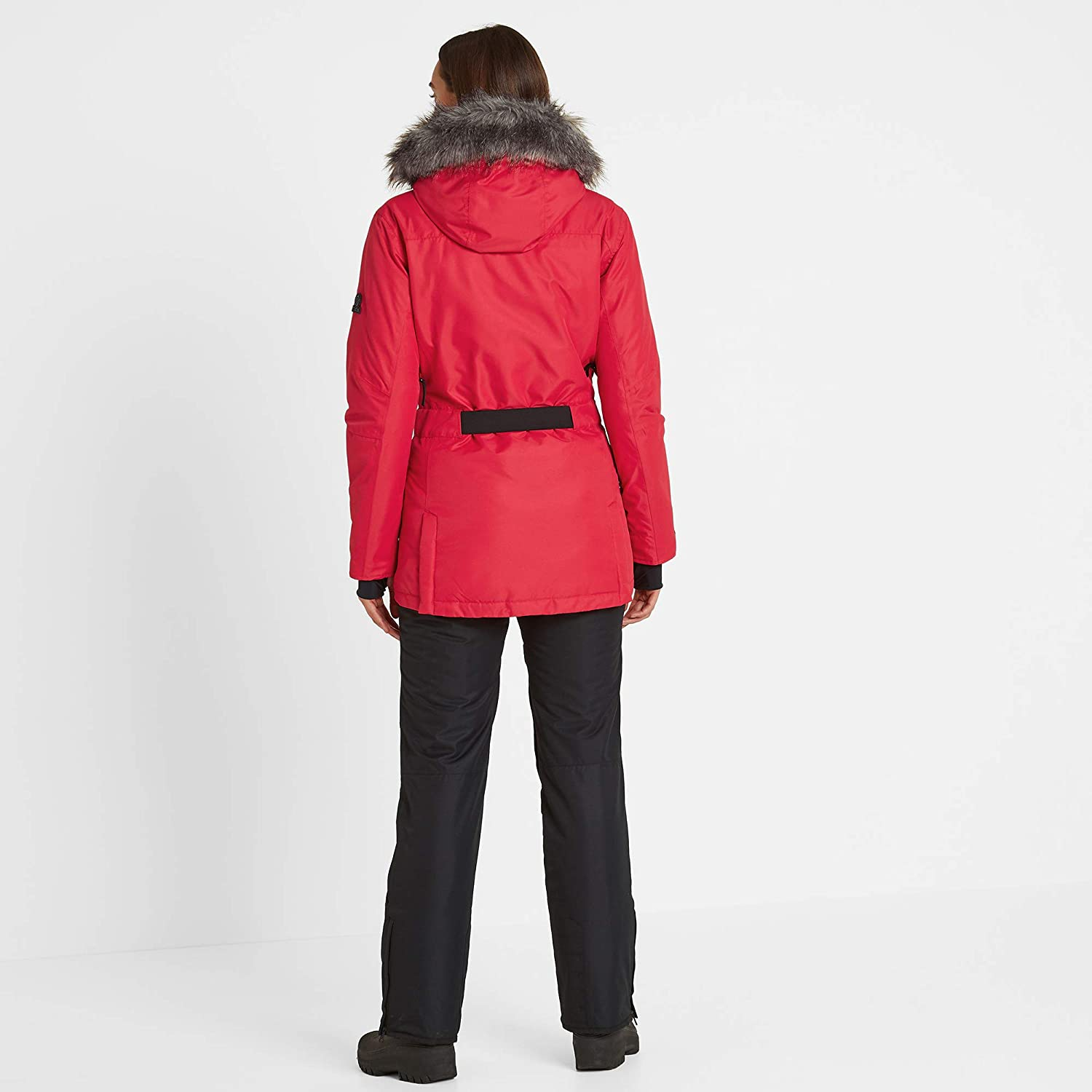 Tog24 Aria Womens Waterproof Insulated Ladies Parka Ski Jacket with Faux Fur
